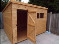 NEW 9x7FT PENT HEAVY DUTY T&G TIMBER FULLY ASSEMBLED ERECTED GARDEN SHED