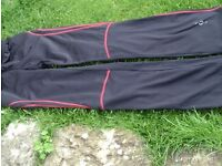 black / red training trousers size 10