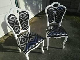 2 x Shabby chair / refubrished