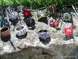 set of 12 sparkly costume rings
