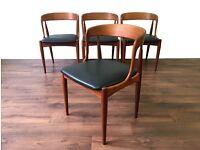Retro Teak Chairs Model 16 Design by Johannes Andersen for Uldum Mobelfabrik Vintage Mid Century