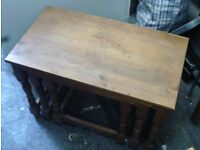NEST OF TABLES WOODEN 07985733189 25.00 OVNO
