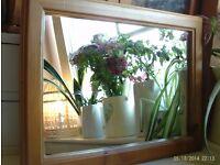 wooden framed mirror 47x35cm
