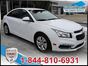 2015 Chevrolet Cruze LT Turbo, Cloth, Cruise, Remote Start, A/C