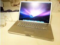 "Apple powerbook G4 15"" 148gb 2gb 1.67, osx 10.5.8"