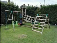 Little Tikes Marlow Wooden Climb & Slide Swing Set