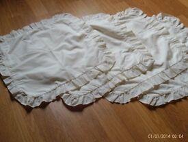 4 cream zipped cushion covers 37x37cm