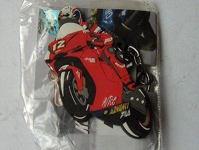 TROY BAYLISS NO.12 NEW DUCATI MOTO GP RUBBER KEY RING KEYRING