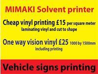 Vinyl Printing Services Cheap , magnetic , shop vindows one way vision contravision print, solvent