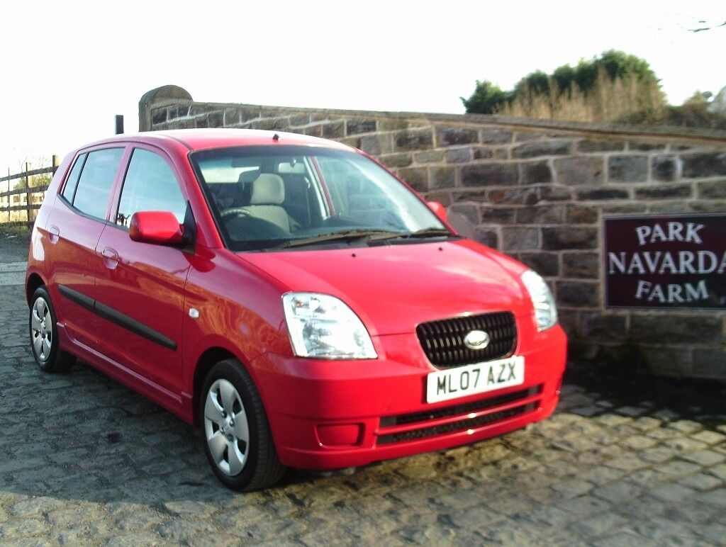 Kia Picanto GS in Red, 2007 07 reg,Service History, Low Miles,