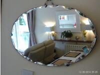 antique bevelled / scalloped edge mirror