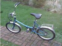 FOLDING BIKE IN GREAT CONDITION 07985733189 50.00 NO OFFERS PLEASE