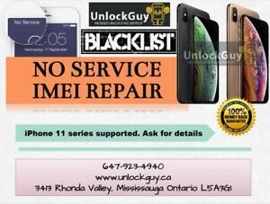 NO SERVICE - NO SIGNAL - NETWORK BLOCKED REPAIR IPHONES 11 series supported & ICLOUD REMOVAL SERVICE Mississauga / Peel Region Toronto (GTA) Preview