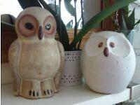 2 elegant owl ornaments