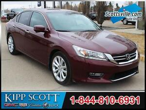 2013 Honda Accord Touring, 4 Cyl, Leather, Nav, Sunroof, Loaded