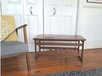 Vintage Mid Century Teak Danish Style Coffee Table