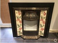 Stunning cast iron fire surround.