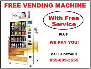 FREE Healthy Vending Machine With Service  For Your Business