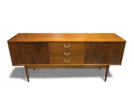 50s Stylish Mid Century Retro Vintage Uniflex walnut Sideboard media unit