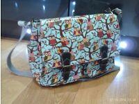 owl design satchel / laptop shoulder bag 36x30cm