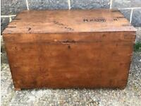 Antique chest, trunk, coffer lined with zinc.