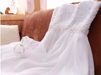 Beautiful, Comfortable Wedding Dress -once worn, dry cleaned size S-M