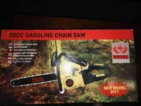 New 52 cc petrol chainsaw -50 cm blade