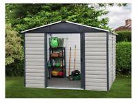 Yardmaster 8 x 6 Extra Tall metal shed - NEW