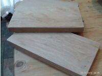 Wooden chopping board / bread board - solid oak (3 available)