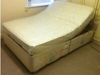 *** Hardly Used *** Double adjustable electric bed £500 ONO with mattress & headboard