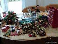 Christmas decorations etc - lot