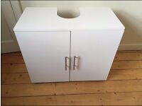 BRAND NEW WHITE UNDER SINK BATHROOM CABINET • TIDY • SPACE SAVING