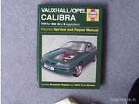 Car service manual - Vauxhall/Opel Calibra 1990-1998