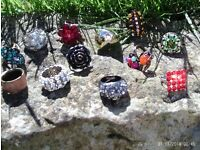 set of 11 sparkly rings