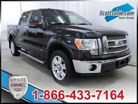 2012 FORD F-150 LARIAT, HEATED/COOLED LEATHER, MOONROOF, NAV