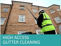 High / Difficult access gutter cleaning - domestic & commercial