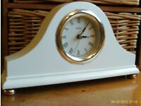 white wooden clock