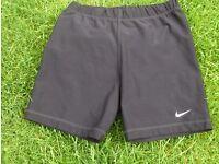 NIKE fitdry training shorts size 8/10 black