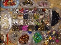 Hundteds of beads trinkets spacers ball ends shambala etc for diy £20 for all in pic