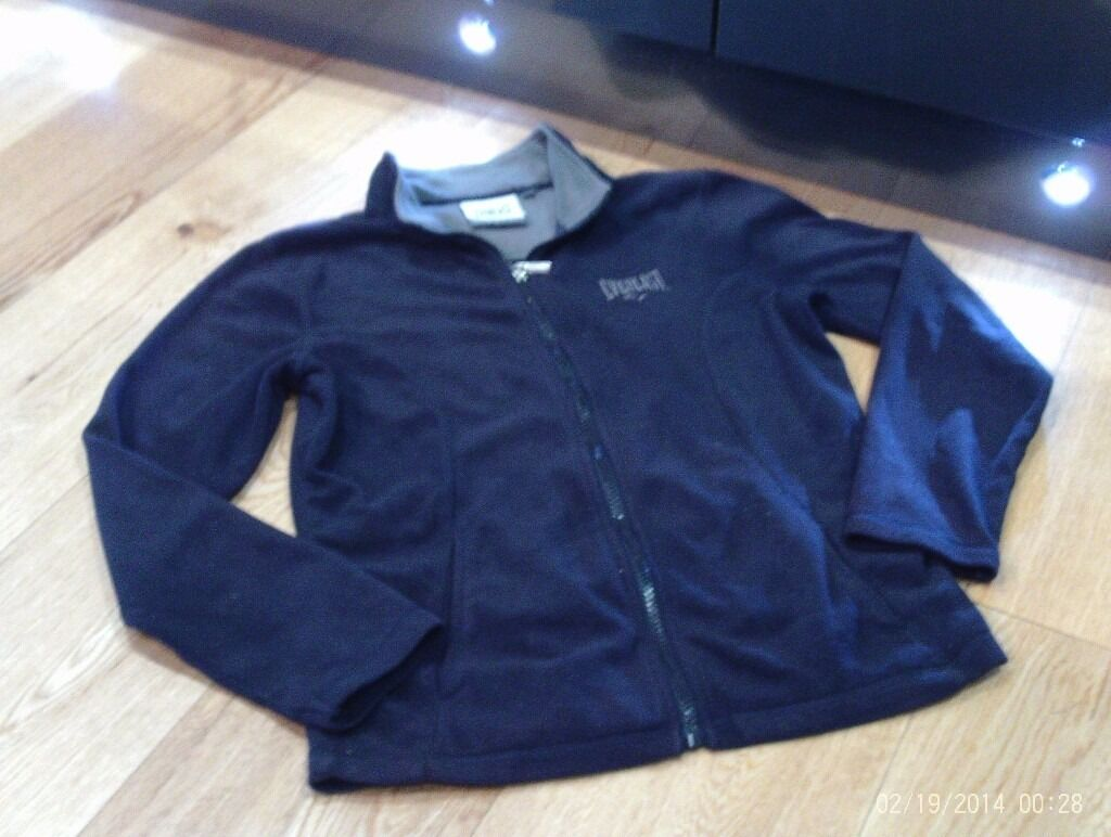 new EVERLAST navy full zip up fleece size 8