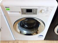 BEKO White & Chrome, 9KG 1400 spin A++ WASHING MACHINE + 3 Month Guarantee + FREE LOCAL DELIVERY