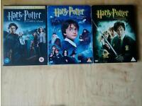 3 Harry Potter dvds