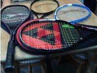 Tennis rackets - Slazenger and Fischer