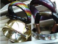 set of six chunky bangles