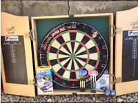 Phil Taylor Dart Board & Extras..Almost Perfect Condition