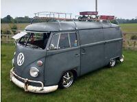 1966 RHD VW splitscreen panel van - camper T2 T5 retro patina bay volkswagen catering bus festival