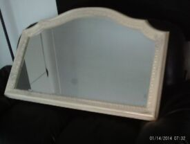 Mirror Arch Beveled Marble detail ivory/ grey grain very well made 70cm x 107cm