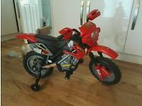 Kids ride on motor bike battery power