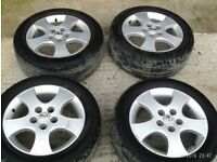 4 Nissan Alloy Wheels From Almera Tino with 205/55 R16 Tyres