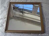 old gold framed mirror 43 x 43 cm